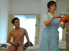 Hot house maid Nana Oshikiri gets a nice cock