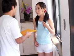 Home alone Lulu Kinouchi is nailed big time