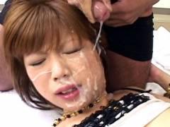 Miki Matsufuji hard to get a pieceing and bukkake
